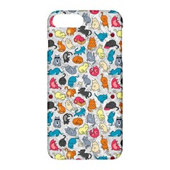 Funny Cute Colorful Cats Pattern Apple Iphone 7 Plus Hardshell Case by EDDArt