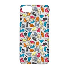 Funny Cute Colorful Cats Pattern Apple Iphone 7 Hardshell Case by EDDArt