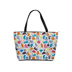 Funny Cute Colorful Cats Pattern Shoulder Handbags