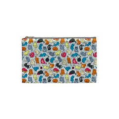 Funny Cute Colorful Cats Pattern Cosmetic Bag (small) by EDDArt