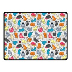 Funny Cute Colorful Cats Pattern Fleece Blanket (small) by EDDArt