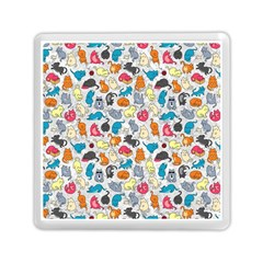 Funny Cute Colorful Cats Pattern Memory Card Reader (square)