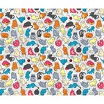 Funny Cute Colorful Cats Pattern Deluxe Canvas 14  x 11  14  x 11  x 1.5  Stretched Canvas