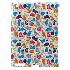 Funny Cute Colorful Cats Pattern Apple Ipad 3/4 Hardshell Case (compatible With Smart Cover)