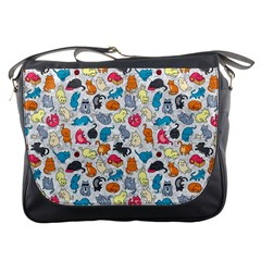 Funny Cute Colorful Cats Pattern Messenger Bags