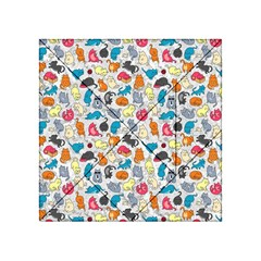 Funny Cute Colorful Cats Pattern Acrylic Tangram Puzzle (4  X 4 )