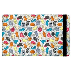 Funny Cute Colorful Cats Pattern Apple Ipad 3/4 Flip Case