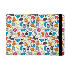 Funny Cute Colorful Cats Pattern Apple Ipad Mini Flip Case by EDDArt