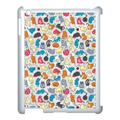 Funny Cute Colorful Cats Pattern Apple Ipad 3/4 Case (white)