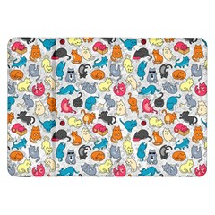 Funny Cute Colorful Cats Pattern Samsung Galaxy Tab 8 9  P7300 Flip Case by EDDArt
