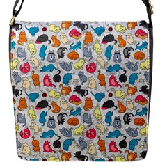 Funny Cute Colorful Cats Pattern Flap Messenger Bag (s)