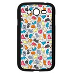 Funny Cute Colorful Cats Pattern Samsung Galaxy Grand DUOS I9082 Case (Black) Front