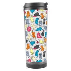 Funny Cute Colorful Cats Pattern Travel Tumbler by EDDArt