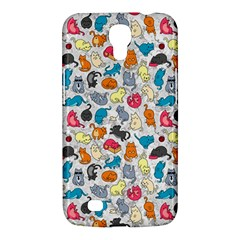 Funny Cute Colorful Cats Pattern Samsung Galaxy Mega 6 3  I9200 Hardshell Case by EDDArt