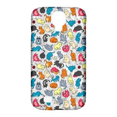 Funny Cute Colorful Cats Pattern Samsung Galaxy S4 Classic Hardshell Case (pc+silicone) by EDDArt