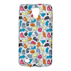 Funny Cute Colorful Cats Pattern Samsung Galaxy S4 Active (i9295) Hardshell Case by EDDArt