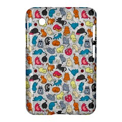 Funny Cute Colorful Cats Pattern Samsung Galaxy Tab 2 (7 ) P3100 Hardshell Case  by EDDArt