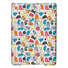 Funny Cute Colorful Cats Pattern Ipad Air Hardshell Cases by EDDArt