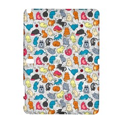 Funny Cute Colorful Cats Pattern Samsung Galaxy Note 10 1 (p600) Hardshell Case