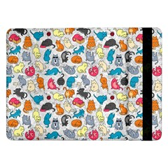 Funny Cute Colorful Cats Pattern Samsung Galaxy Tab Pro 12 2  Flip Case