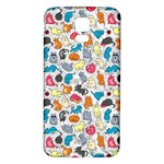 Funny Cute Colorful Cats Pattern Samsung Galaxy S5 Back Case (White) Front