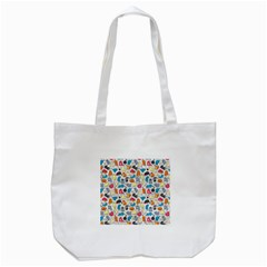 Funny Cute Colorful Cats Pattern Tote Bag (white) by EDDArt