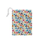 Funny Cute Colorful Cats Pattern Drawstring Pouches (Small)  Back