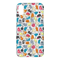 Funny Cute Colorful Cats Pattern Apple Iphone X Hardshell Case