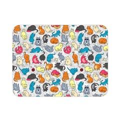 Funny Cute Colorful Cats Pattern Double Sided Flano Blanket (mini)  by EDDArt