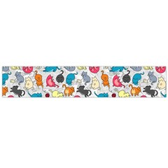 Funny Cute Colorful Cats Pattern Large Flano Scarf  by EDDArt