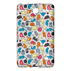 Funny Cute Colorful Cats Pattern Samsung Galaxy Tab 4 (8 ) Hardshell Case  by EDDArt