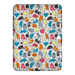 Funny Cute Colorful Cats Pattern Samsung Galaxy Tab 4 (10 1 ) Hardshell Case