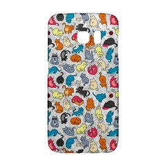 Funny Cute Colorful Cats Pattern Samsung Galaxy S6 Edge Hardshell Case by EDDArt