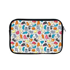 Funny Cute Colorful Cats Pattern Apple Macbook Pro 13  Zipper Case by EDDArt
