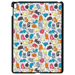 Funny Cute Colorful Cats Pattern Apple Ipad Pro 9 7   Black Seamless Case by EDDArt