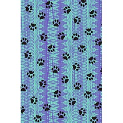 Footprints Cat Black On Batik Pattern Teal Violet 5 5  X 8 5  Notebooks by EDDArt