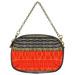 Creative Red And Black Geometric Design  Chain Purses (one Side)  by flipstylezdes
