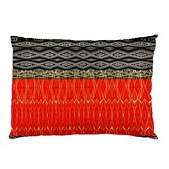 Creative Red And Black Geometric Design  Pillow Case