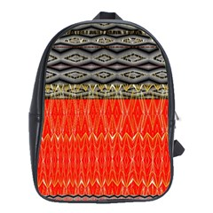 Creative Red And Black Geometric Design  School Bag (large) by flipstylezdes