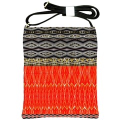 Creative Red And Black Geometric Design  Shoulder Sling Bags