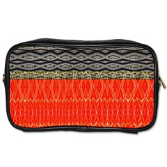 Creative Red And Black Geometric Design  Toiletries Bags 2 Side by flipstylezdes