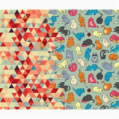 Hipster Triangles And Funny Cats Cut Pattern Canvas 20  X 24   by EDDArt