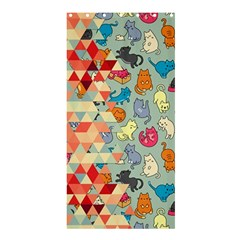 Hipster Triangles And Funny Cats Cut Pattern Shower Curtain 36  X 72  (stall)  by EDDArt