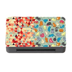 Hipster Triangles And Funny Cats Cut Pattern Memory Card Reader With Cf by EDDArt