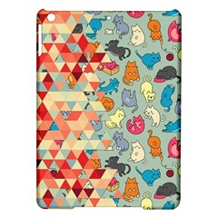 Hipster Triangles And Funny Cats Cut Pattern Ipad Air Hardshell Cases by EDDArt
