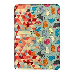 Hipster Triangles And Funny Cats Cut Pattern Samsung Galaxy Tab Pro 10 1 Hardshell Case by EDDArt