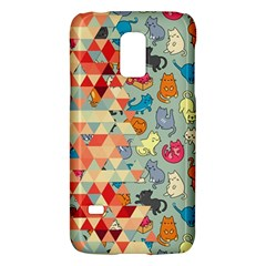 Hipster Triangles And Funny Cats Cut Pattern Samsung Galaxy S5 Mini Hardshell Case  by EDDArt