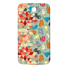 Hipster Triangles And Funny Cats Cut Pattern Samsung Galaxy Mega I9200 Hardshell Back Case by EDDArt