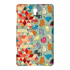 Hipster Triangles And Funny Cats Cut Pattern Samsung Galaxy Tab S (8 4 ) Hardshell Case  by EDDArt