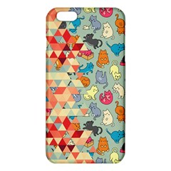 Hipster Triangles And Funny Cats Cut Pattern Iphone 6 Plus/6s Plus Tpu Case by EDDArt